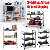 3/4 Layer Beauty Salon Trolley Cart Storage Tattoo Dentist Plant Shelf Bookshelf