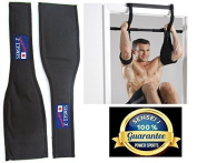 Ab Straps/Slings SENSEI-J Signature ABZ-ECLIPSE Standard AB-Crunch Sling AB Straps Weight Lifting Boxing Hanging Gym for Men/Women, AB Straps, Sling With Hook Hanging Ab Straps Padded Elbow Supports Chinning Bar Attachment 43cm Long Straps