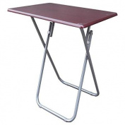 Above Edge Folding TV & Snack Tray Table, Cherry