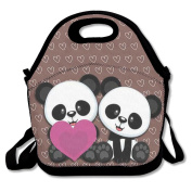 Cute Panda Lunch Bag Box Travel Outdoor Picnic Lunchboxes Lunch Tote Handbag For Kids And Adults