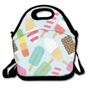 Ice Cream Lunch Bag Box Travel Outdoor Picnic Lunchboxes Lunch Tote Handbag For Kids And Adults