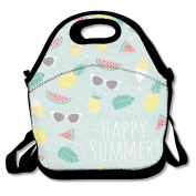 Fruit Pineapple Lunch Bag Box Travel Outdoor Picnic Lunchboxes Lunch Tote Handbag For Kids And Adults