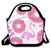 Flamingo Lunch Bag Box Travel Outdoor Picnic Lunchboxes Lunch Tote Handbag For Kids And Adults