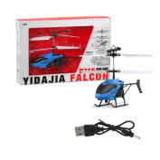 RC Helicopter,SMYTShop Flying Mini RC Infraed Induction Helicopter Aircraft Flashing Light Toys for Kid