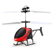 SANNYSIS Mini RC Flying Helicopter Infraed Induction Aircraft Flashing Light Toys For Kids