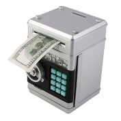 Stylebeauty Electronic Password Piggy BankCash Coin Can Money Locker Auto Insert Bills Safe Box Password ATM Bank Saver Birthday Gifts for Kids