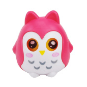 TOYMYTOY Owl Shaped Piggy Bank Cartoon Money Coins Bank Saving Box with Moving Eyes