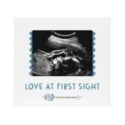 Pearhead Sonogram Frame, Boy, Blue