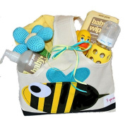 Organic Baby Gift Basket - All Natural Bath Supplies and Baby Toys - Duck Pond