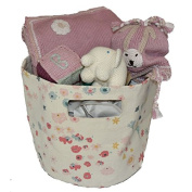 Organic Gift Basket for Baby Girls in Dusty Pink