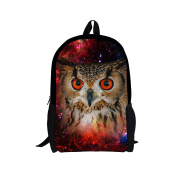 Showudesigns Novelty Youth Girls Owl Backpack Polyester Fabric Book Bags