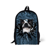 Showudesigns Kawaii Print Dog School Backpack Polyester Children Kids Bagpack