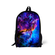 Showudesigns Stylish Galaxy Backpack for School Student Children Polyester Fabric