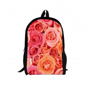 Showudesigns Colourful Printing Flower Rose Backpack for Elementary Kids Durable