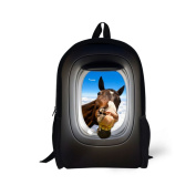 Showudesigns Cool Animal Horse School Bag for Little Boys Girls with Top Handle