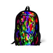 Showudesigns Colourful Polyeser Fabric Printing 3D Animal Backpack School Bookbag