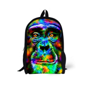 Showudesigns Colourful Polyeser Fabric Printing 3D Animal Backpack School Bookbag