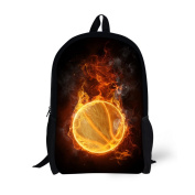 Showudesigns Cool Lillte Boys Backpack for School Printing Football Bag