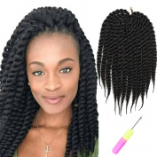 "Mirra's Mirror 6Packs 12"" 100% Kanekalon Havana Twist Crochet Hair Mambo Twist Senegalese Crochet Braids Braiding Hair 75gram/12 roots/Pack"