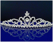 Rhinestones Crystal Wedding Bridal Prom Pageant Princess Tiara Crown 25306