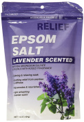Relief MD Epsom Salt, Lavender Scented, Natural Magnesium Sulphate Crystals with Added Fragrance, 470ml