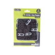 Summit High Vis Guy Ropes With Tensioners - Black Camping Travel Tent Guylines