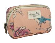 Primrose Hill Calico Canary Collection Cosmetic Diagonal Zip Clutch, Birds