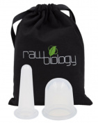 Raw Biology CELLULITE Remover & WRINKLE Reduction Cupping Set Voted MOST EFFECTIVE for Smoothing