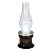 Kerosene Style Led Lamp Blow On And Off Battery Powered Adjustable Lantern