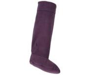 Plum Ladies Rjm Fleece Wellie Socks The Style - Sk205cdu