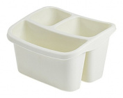 Whitefurze Sink Organiser, Cream