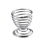 Bubudong Metal Egg Cup Spiral Kitchen Breakfast Hard Boiled Spring Holder Egg Cup