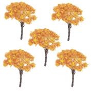 Building Garden Park Street Layout Scale Scenery Maple Tree Model 5pcs