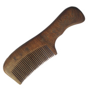FANTAC CRAFTS Natural Sucupira Wood Handle Fine-tooth Hair Comb Wooden Brush Antistatic Pocket Portable