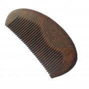 FANTAC CRAFTS Pocket Sucupira Wood Mini Hair Comb Bag Black Wood Antistatic Carved Brush Portable