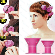 30 Pcs Hair Care Rollers Hair Curlers Silicone No Clip Hair Style Rollers Soft Magic DIY Curling Hairstyle Tools Hair Accessories For Women Girls