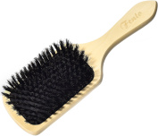 Fento Natural Boar Bristle Paddle Hair Brush – Condition & Revitalise Your Hair, Promotes Shiny, Healthy Hair, Stimulates Blood Flow & Reduces Frizz, For Straight & Curly Hair, Deluxe Wooden Handle