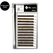 Eyelash Extension Blink B.Brow Mink Lash 0.10mm X 5~8 mm 4 sizes in 1 Mixed Tray, Professional Grde, Brown