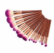 17Pcs Cosmetic Makeup Brushes Set Powder Foundation Eyeshadow Eyeliner Lip Beauty Tools