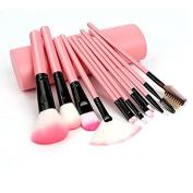 12PCS Makeup Brushes set Foundation eyeliner Eyebrow Lip Brush Tools cosmetics Kits make up Brush Set with P Holder