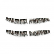 Magnetic False Eyelashes Kit, Inkach . Girls 3D Reusable Wispies Magnet Fake Eye Lashes Set