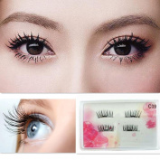 Staron Natural Fake Eyelashes,0.2mm Ultra-thin Magnetic False Eye Lashes 3D Repeat Hand Made False Magnet Eyelashes Extension