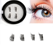 Magnetic Eyelashes No Glue Magnetic Fake Eyelashes Reusable for Daily Life and Parties 1 Pair / 4 Pieces