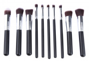 Genda 2Archer Makeup Brush Set Kabuki Cosmetics Foundation Blending Blush Eyeliner Face Powder Brush Kit 10pcs