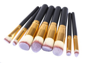 Genda 2Archer Makeup Brush Set Synthetic Kabuki Cosmetics Foundation Blending Blush Eyeliner Face Powder Brush Kit