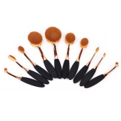 Oval Makeup Brush Set ,10 Pcs Professional Oval Toothbrush Makeup Brushes Concealer Eyeliner Blending Cosmetic Brushes Tool Set