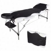 210cm L Portable Aluminium 3 Fold Massage Table Facial SPA Bed Tattoo W/Carry Case Bonus . By Allgoodsdelight365