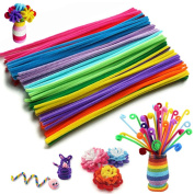 400 Pcs Chenille Stems Pipe Cleaners 0.6cm x 30cm Plush Twist Rods Sticks Toys for Kid DIY Handmade Educational Art Craft