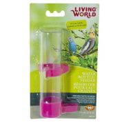 Living World Plastic Water Bottle and Feeder Combination for Birds Large 120ml