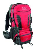 Highlander Hiker 40 Litre Rucksack Red Hiking Backpack Includes Raincover